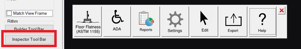 Inspector toolbar