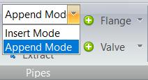 Connection modes drop down menu - append mode