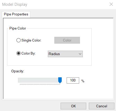 Pipe Model Display Options