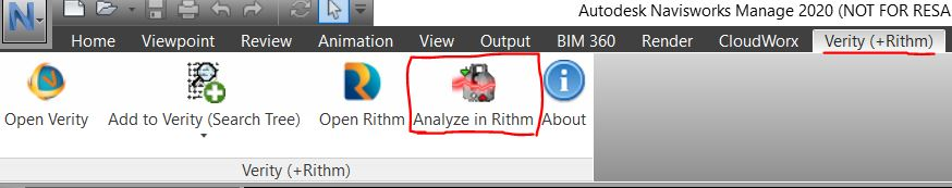 Preparing Project for Rithm - Analyze in Rithm button