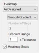 Verity heatmap settings menu.